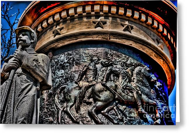 Confederate Monument Digital Art Greeting Cards - Clarity of War IV Greeting Card by Lesa Fine
