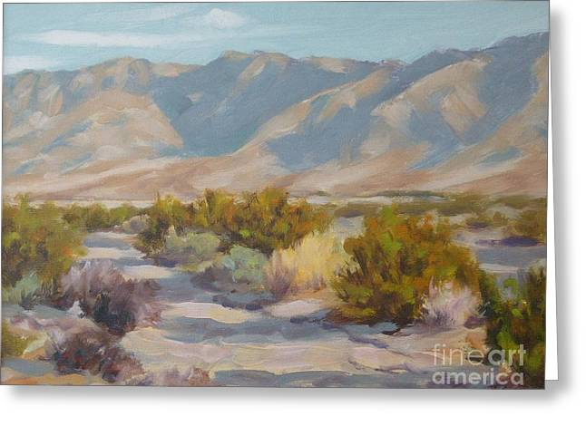Dry Lake Paintings Greeting Cards - Clark Dry Lake Greeting Card by James Toenjes