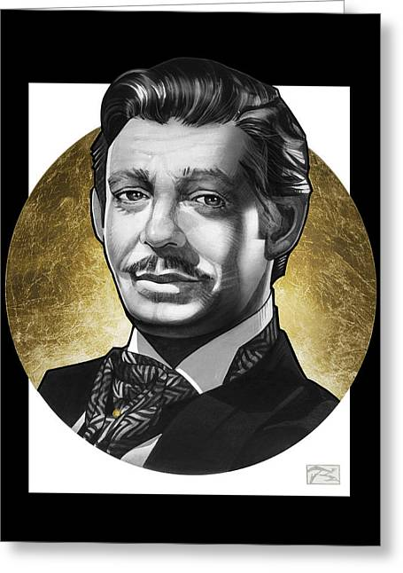 Hyper-realism Greeting Cards - Clark Gable Greeting Card by T M Rhyno