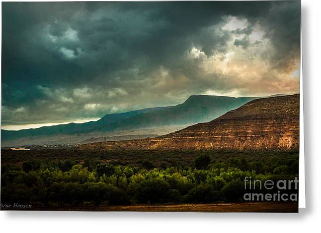 Outdoor Greeting Cards - Clarkdale Arizona  Greeting Card by Arne Hansen