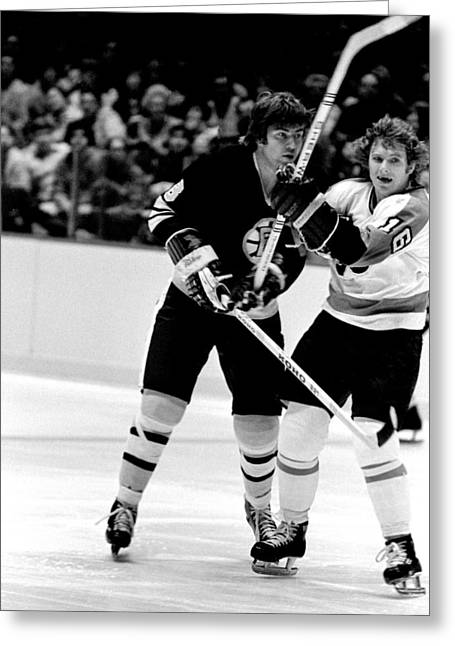 Bobby Clarke Greeting Cards - Clarke and McNabb Greeting Card by Jerry Coli