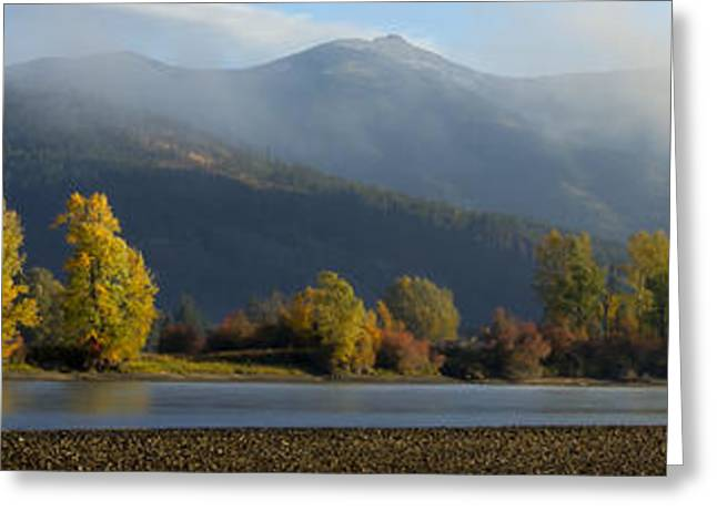 North Fork Greeting Cards - Clarkfork River Pano Greeting Card by Idaho Scenic Images Linda Lantzy