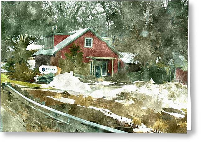Entryway Drawings Greeting Cards - Clarks Nursery And Landscaping Comstock Park Michigan Greeting Card by Rosemarie E Seppala