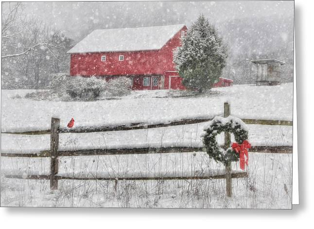 Wintry Greeting Cards - Clarks Valley Christmas 2 Greeting Card by Lori Deiter