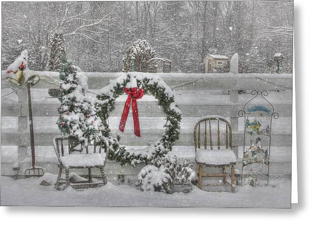 Winter Storm Greeting Cards - Clarks Valley Christmas 3 Greeting Card by Lori Deiter