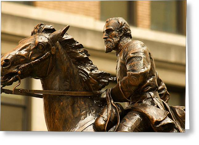 Confederate Monument Greeting Cards - Clarksburg WV Favorite Son Thomas J Stonewall Jackson Greeting Card by Howard Tenke