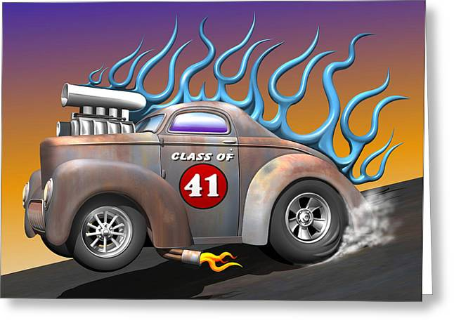 Willys Greeting Cards - Class of 41 Greeting Card by Stuart Swartz