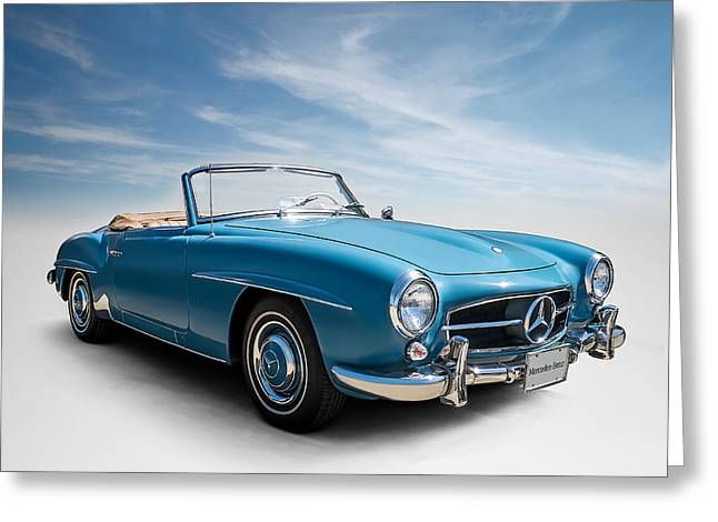 Blue Car. Greeting Cards - Class of 59 Greeting Card by Douglas Pittman