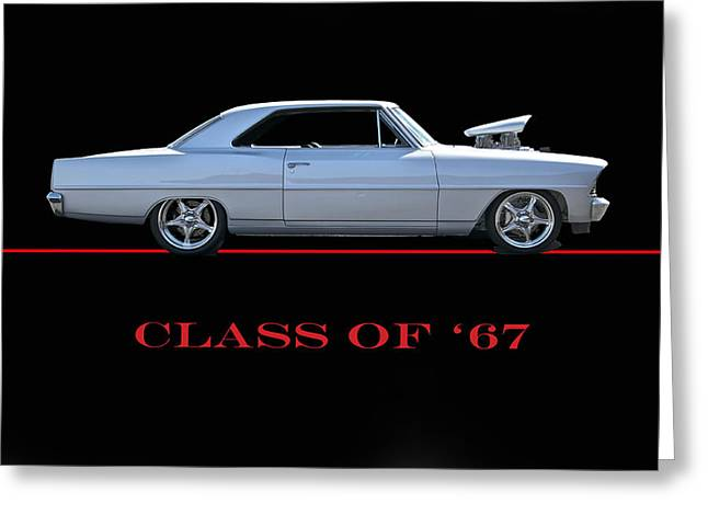 Slam Photographs Greeting Cards - Class of 67 Nova Greeting Card by Dave Koontz