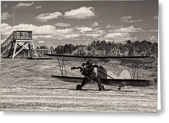 Airfield Greeting Cards - Classic 1931 WACO UBF-2 Biplane    Greeting Card by Keith Webber Jr
