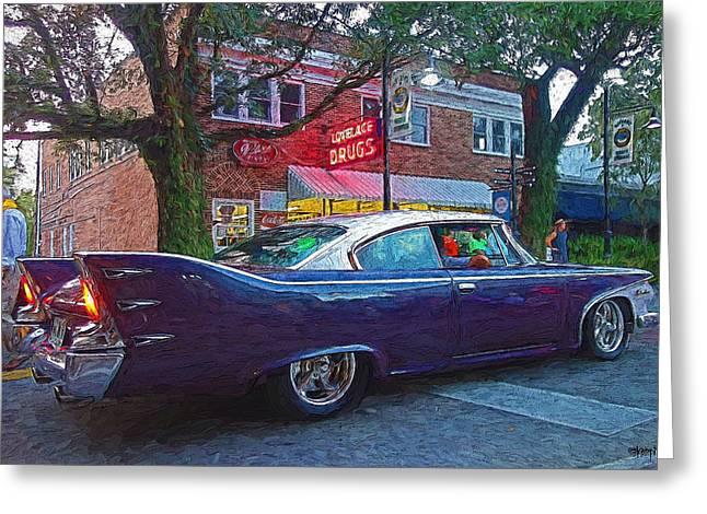 Classic 1960 Purple Plymouth Belvedere Car Greeting Card by Rebecca Korpita