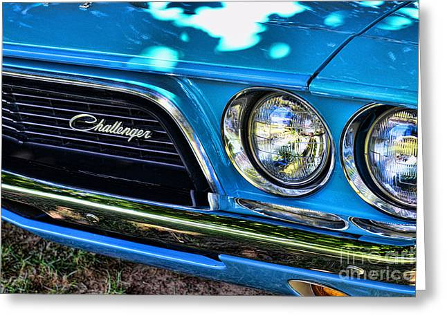 Art Dealer Greeting Cards - Classic 1974 Dodge Challenger Greeting Card by Paul Ward