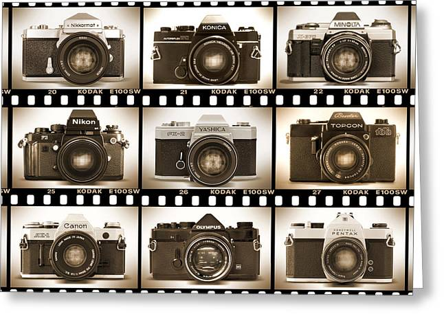 Proof Greeting Cards - Classic 35mm S L R Cameras Greeting Card by Mike McGlothlen