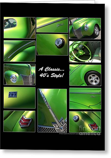 Classic 40s Style - Poster Greeting Card by Gary Gingrich Galleries