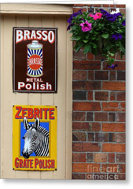 Brasso Greeting Cards - Classic Adverts Greeting Card by James Brunker