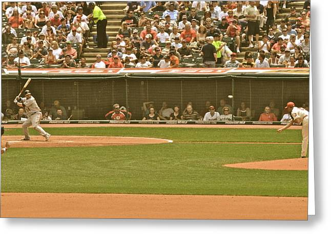 Baseball Game Greeting Cards - Classic Baseball Greeting Card by Frozen in Time Fine Art Photography