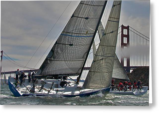 Marin County Greeting Cards - Classic Bay Yachting Greeting Card by Steven Lapkin