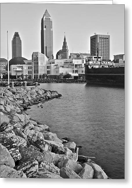 Progressive Field Greeting Cards - Classic Black and White Greeting Card by Frozen in Time Fine Art Photography