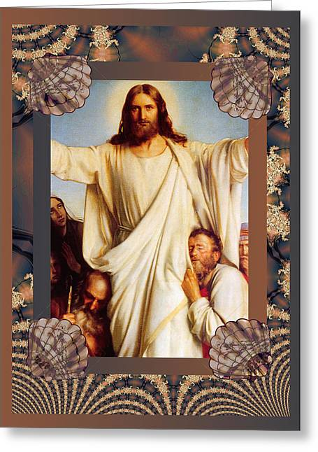 Carl Bloch Prints Greeting Cards - Classic Bloch Jesus Greeting Card by Robert G Kernodle