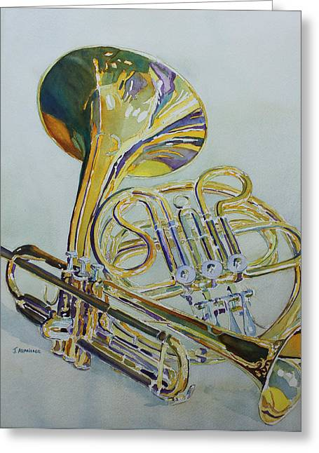 Classic Brass Greeting Card by Jenny Armitage