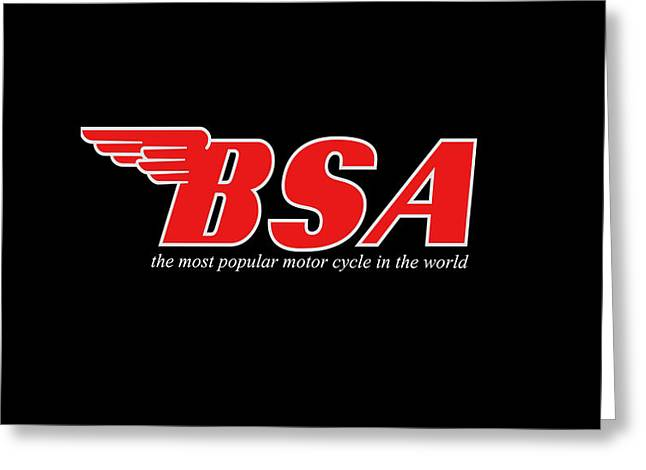 Motorcycles Greeting Cards - Classic BSA Phone Case Greeting Card by Mark Rogan