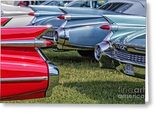 Lasalle Greeting Cards - Classic Caddy Fin Party Greeting Card by Edward Fielding