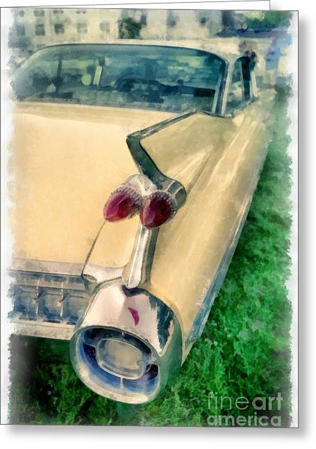 Caddy Photographs Greeting Cards - Classic Caddy Fins Greeting Card by Edward Fielding