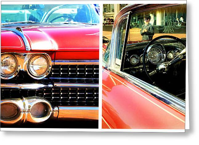 Steering Greeting Cards - Classic Caddy Inside and Out Greeting Card by Alanna DPhoto