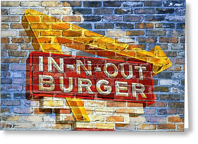 American Food Greeting Cards - Classic Cali Burger 2.1 Greeting Card by Stephen Stookey