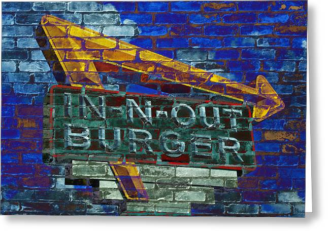 French Fries Greeting Cards - Classic Cali Burger 2.2 Greeting Card by Stephen Stookey