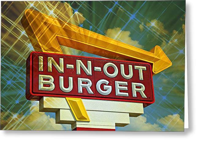 Classic Cali Burger 2.3 Greeting Card by Stephen Stookey