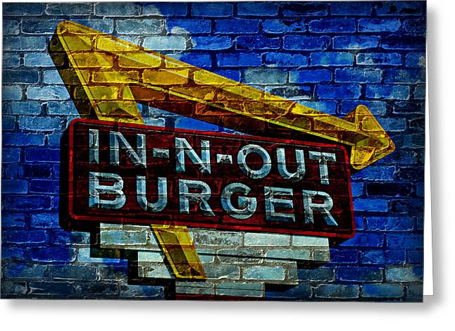 Classic Cali Burger 2.4 Greeting Card by Stephen Stookey