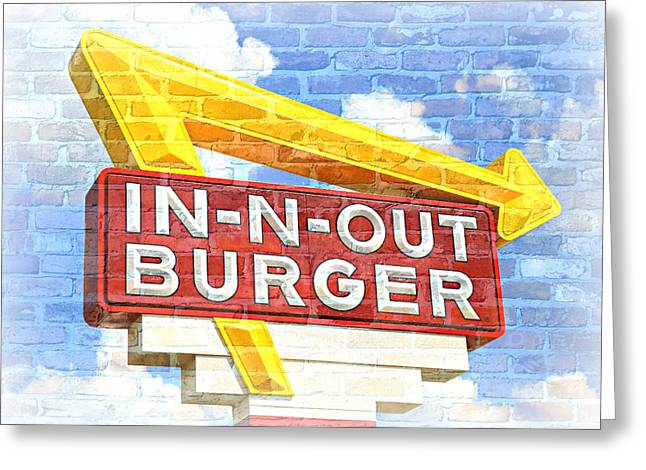 Classic Cali Burger 2.5 Greeting Card by Stephen Stookey