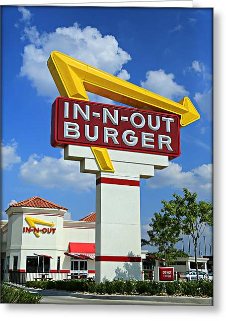 Classic Cali Burger Greeting Card by Stephen Stookey