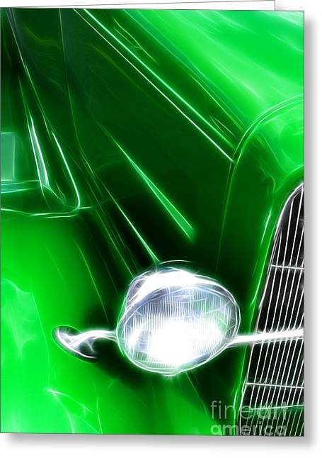 Greeting Cards - Classic Cars Beauty By Design 2 Greeting Card by Bob Christopher