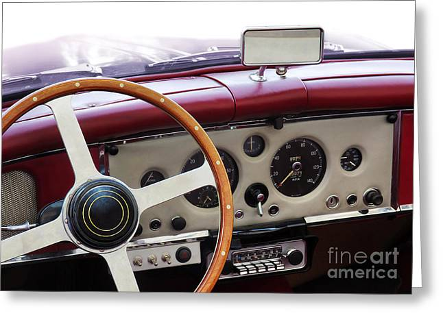 Dash Greeting Cards - Classic Car Greeting Card by Carlos Caetano