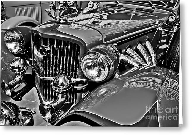 Cole Greeting Cards - Classic Car Detail Greeting Card by Carlos Alkmin