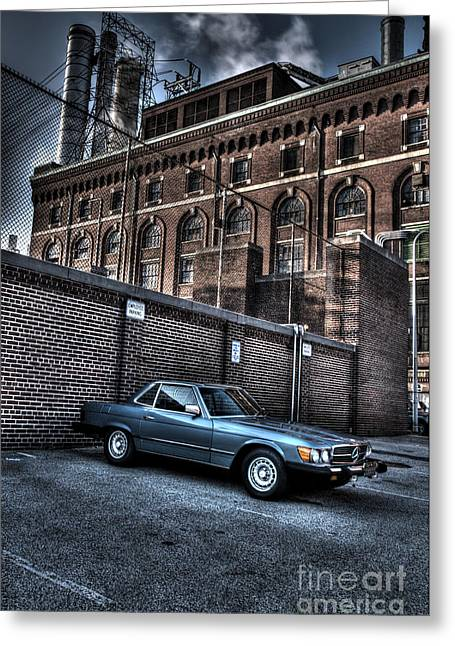 Best Sellers -  - Williams Dam Greeting Cards - Classic Car Greeting Card by Mark Ayzenberg