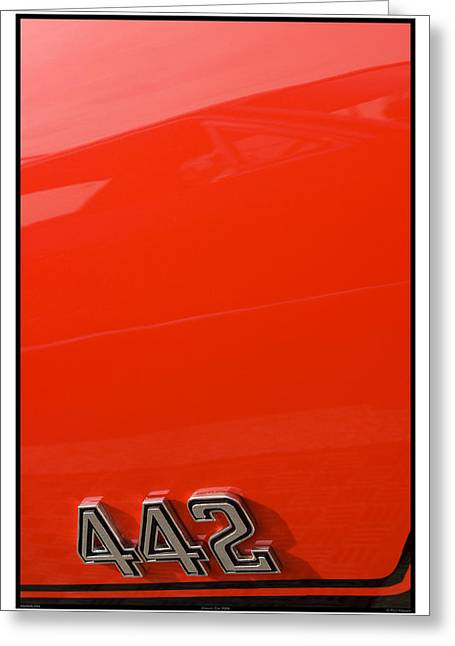 Metal Sheet Greeting Cards - Classic Car Orange - 09.20.09_094 Greeting Card by Paul Hasara
