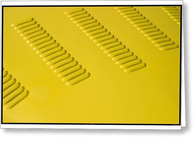 Metal Sheet Greeting Cards - Classic Car Yellow - 09.19.09_245 Greeting Card by Paul Hasara