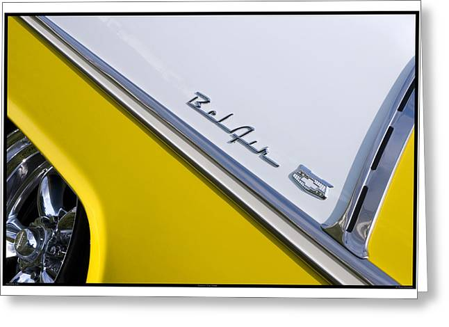 Metal Sheet Greeting Cards - Classic Car Yellow - 09.19.09_543 Greeting Card by Paul Hasara