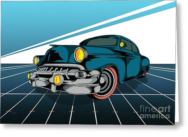 Rally Mixed Media Greeting Cards - Classic Cars 03 Greeting Card by Bedros Awak
