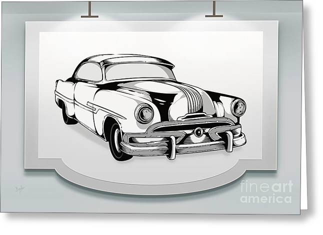 Rally Mixed Media Greeting Cards - Classic Cars 07 Greeting Card by Bedros Awak