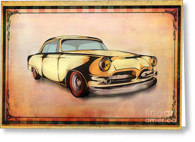Rally Greeting Cards - Classic Cars 08 Greeting Card by Bedros Awak