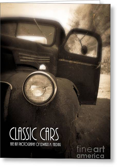 Rusty Car Greeting Cards - Classic Cars Back Cover Greeting Card by Edward Fielding