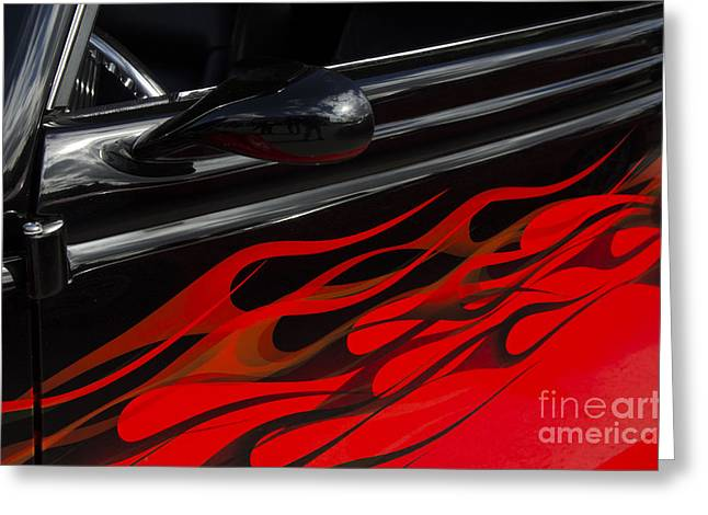 Greeting Cards - Classic Cars Beauty By Design 12 Greeting Card by Bob Christopher
