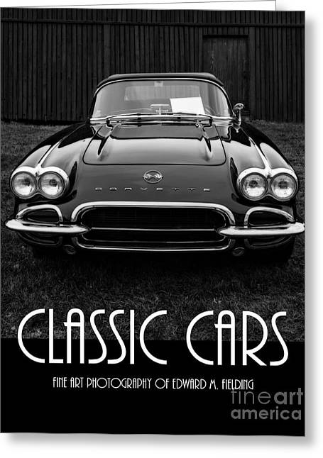 Auto Show Greeting Cards - Classic Cars Front Cover Greeting Card by Edward Fielding