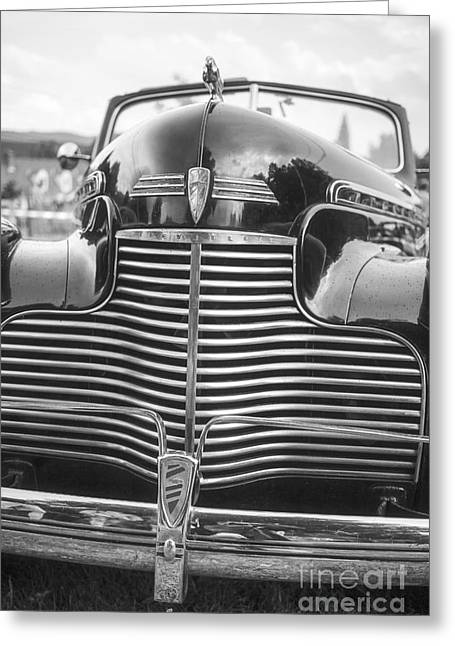 White Chevy Greeting Cards - Classic Chevrolet Greeting Card by Edward Fielding