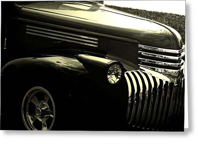 Headlight Mixed Media Greeting Cards - Classic Chevrolet Greeting Card by Optical Playground By MP Ray