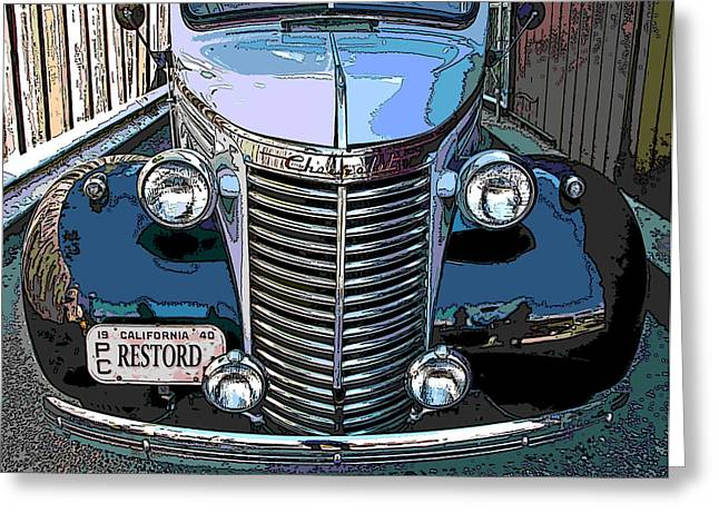 Samuel Sheats Greeting Cards - Classic Chevy Pickup 1 Greeting Card by Samuel Sheats